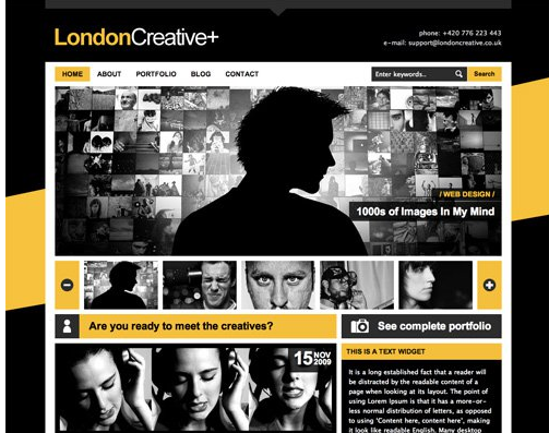 color combinations used in London Creativeplus website design