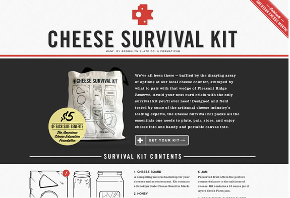 colors used in cheese survival kit website