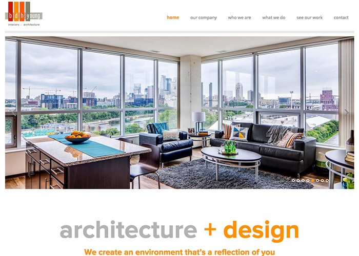 Architecture Website Design – bdh + young