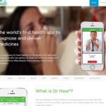 Health App Website Design – Dr Now