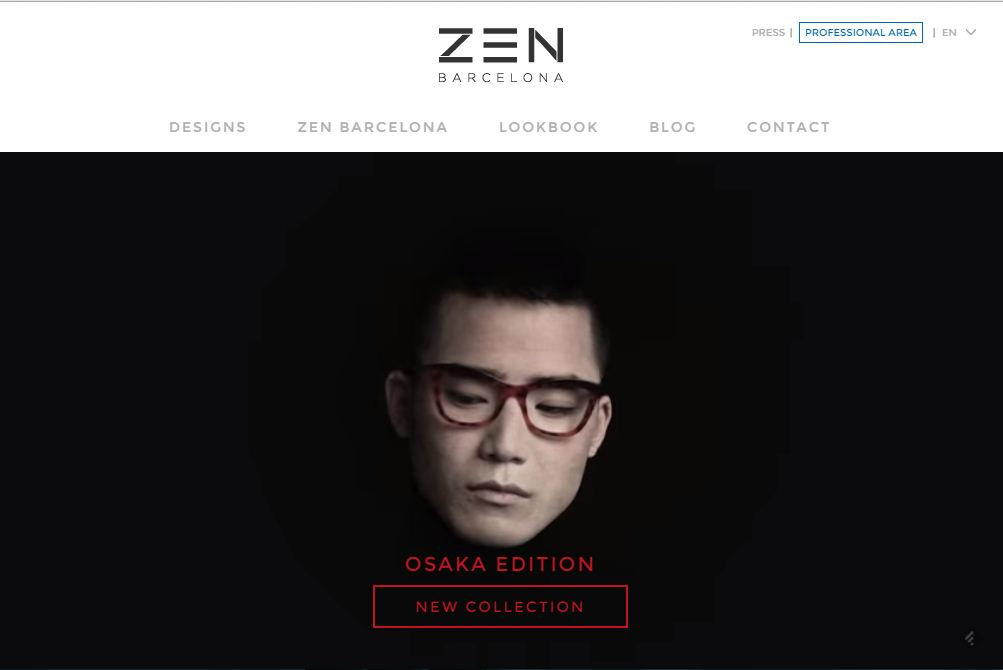 Interactive Business Website – Zen Barcelona Eyewear
