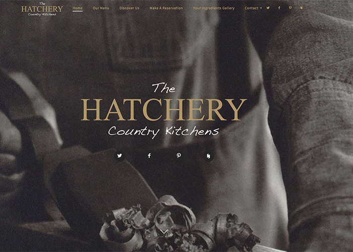 Restaurant based Website Design – The Hatchery Kitchens selected in best web designs for the month September 2016