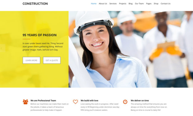 Theme Website Design- Construction WordPress Theme