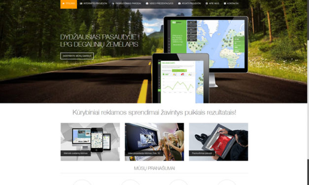 Design Agency Website – 3AKIS Interneto Svetaines